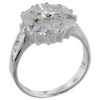 Rings - trillion cut cz pinwheel right hand ring Image.