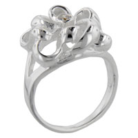 Rings - round cut cz ribbon promise ring Image.