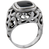 Rings - size8  princess cut onyx vine ring Image.