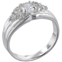 Rings - oval cz marquis sterling silver ring gift jewelry fashion Image.