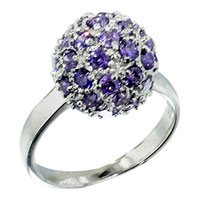 Rings - february birthstone round shape elegant ring Image.