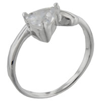 Rings - size9  clear cz twist 925  sterling silver ring gift jewelry fashion Image.