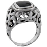 relation - size9  princess cut onyx vine ring Image.