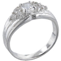 Rings - size9  oval cz marquise sterling silver ring gift jewelry fashion Image.