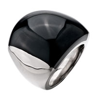 Gifts Center - size9  elegant black smooth round agate Image.