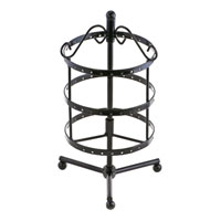 Jewelry Holder - 3  tiers black rotating spin earring holder organizer stand jewelry display rack Image.