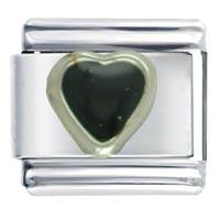 Italian Charms - heart black valentine italian charm bracelet Image.