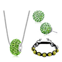 New Year Deals - shamballa bracelets stud earrings pendants charms sets swarovski elements crystal emerald green Image.