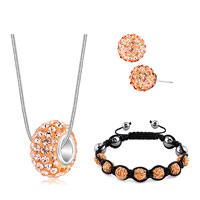 New Arrivals - shamballa bracelets stud earrings pendants charms sets swarovski elements crystal yellow Image.
