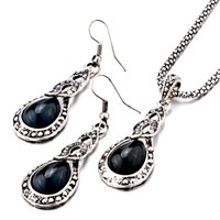 Necklace & Pendants - 3  pieces of elegant black teardrop stone pendant Image.