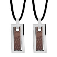 Necklace & Pendants - stainless steel tag pendant necklace couples jewelry set Image.