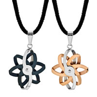 Necklace & Pendants - filigree flower pendant necklace stainless steel couples jewelry set Image.