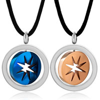 Necklace & Pendants - stainless steel two tone ring hoop star pendant necklace couple set Image.