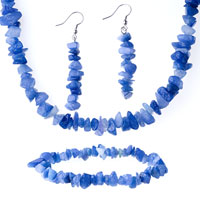 Necklaces - chip stone charms set blue semi precious chip stone set Image.