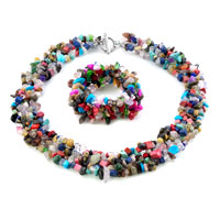 Necklace & Pendants - chip stone charms set stone cluster jewelrymulticolor chips Image.