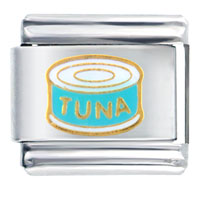 Italian Charms - tuna can words &  phrases italian charm Image.