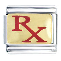 Italian Charms - rx prescription for medicine italian charms bracelet link Image.