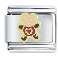 Italian Charms - cute teddy bear heart italian charms Image.