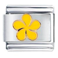 Italian Charms - yellow swirl flower italian charms bracelet link Image.
