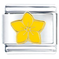 Italian Charms - beautiful yellow flower italian charms bracelet link Image.