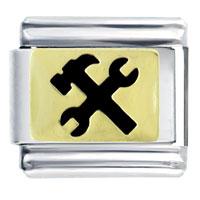 Italian Charms - black tools italian charms bracelet link Image.
