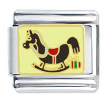 Italian Charms - child rocking horse toy italian charms Image.