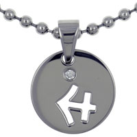 relation - sagittarius horoscope zodiac stainless steel medallion necklace Image.