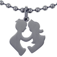 ST1035: stainless steel children playing necklaces pendant for cool men Image.