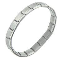 STARTER: shiny starter italian charm 18 link bracelet mens stainless steel bracelets cuff bangle bracelets Image.