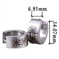 Earrings - men' s staineless steel hinged hoop earrings coptic celtic cross hoop earrings Image.