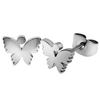 Stainless Steel Jewelry - new butterfly turtlenecks stud earrings for fashion women Image.
