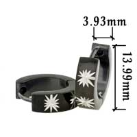 Stainless Steel Jewelry - men' s staineless steel hinged hoop earrings stars hoop earrings Image.