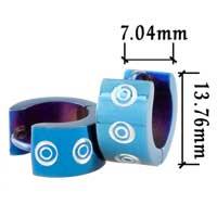 Stainless Steel Jewelry - men' s staineless steel hinged hoop earrings blue big round hoop earrings Image.