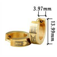 Stainless Steel Jewelry - men' s staineless steel hinged hoop earrings golden i love you heart hoop earrings Image.