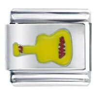 Italian Charms - yellow guitar music italian charms Image.
