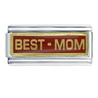 Italian Charms - red best mom superlink celebration italian charms Image.