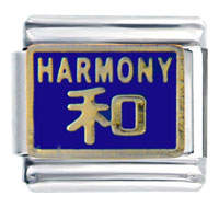 Italian Charms - harmony in chinese italian charms bracelet link Image.