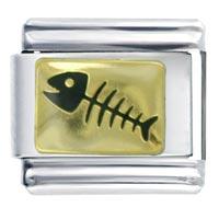 Italian Charms - fish bone italian charm Image.