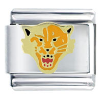 Italian Charms - angry tiger face animal italian charms bracelet link Image.