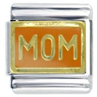 Italian Charms - golden italian charm bracelet orange mom celebration Image.