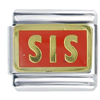 Italian Charms - sis orange special categories italian charm Image.