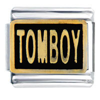 Italian Charms - golden tomboy italian charms Image.
