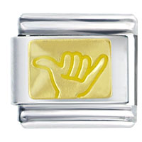 Italian Charms - hang loose yellow italian charms Image.