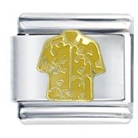 Italian Charms - golden italian charm bracelet hawaiian shirt yellow Image.