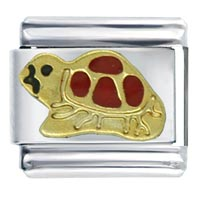 Italian Charms - animal turtle italian charms bracelet link Image.