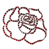 Brooches & Pins - vintage rose flower garnet red swarovski crystal diamond accent brooches and pins Image.