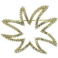 Pave Star Brooch &  Pins