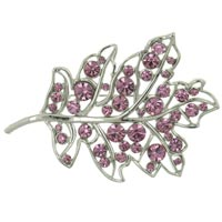 New Year Deals - oak leaf swarovski crystal brooches &  pins Image.