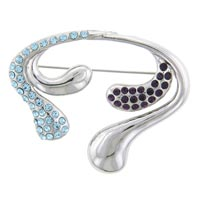 Curved Twist Brooches And Pins