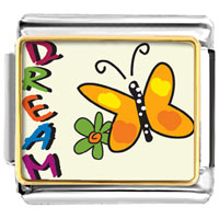 VPH1441: animal photo dream butterfly italian charms bracelet link Image.